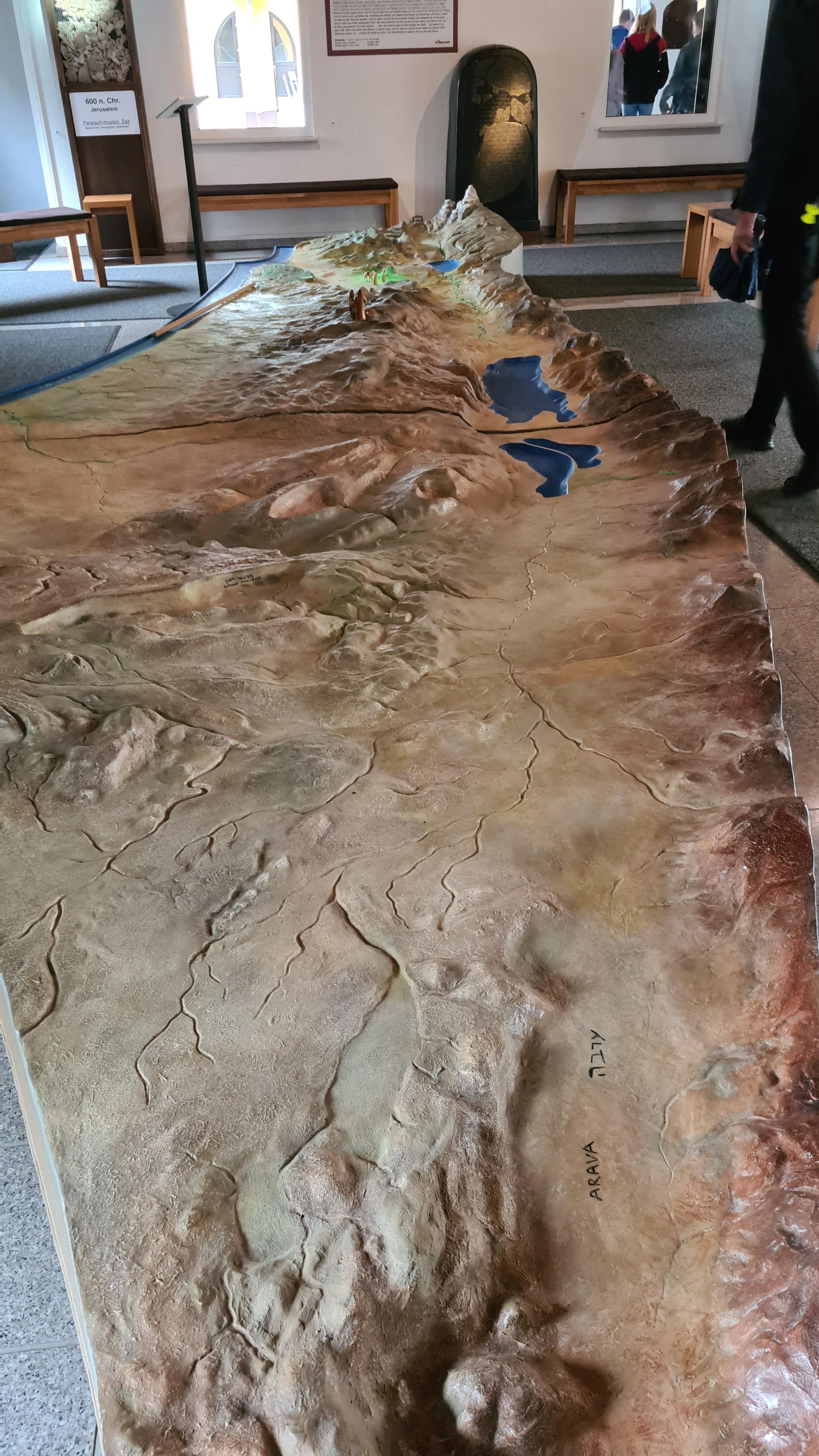 topographisches Modell von Israel
